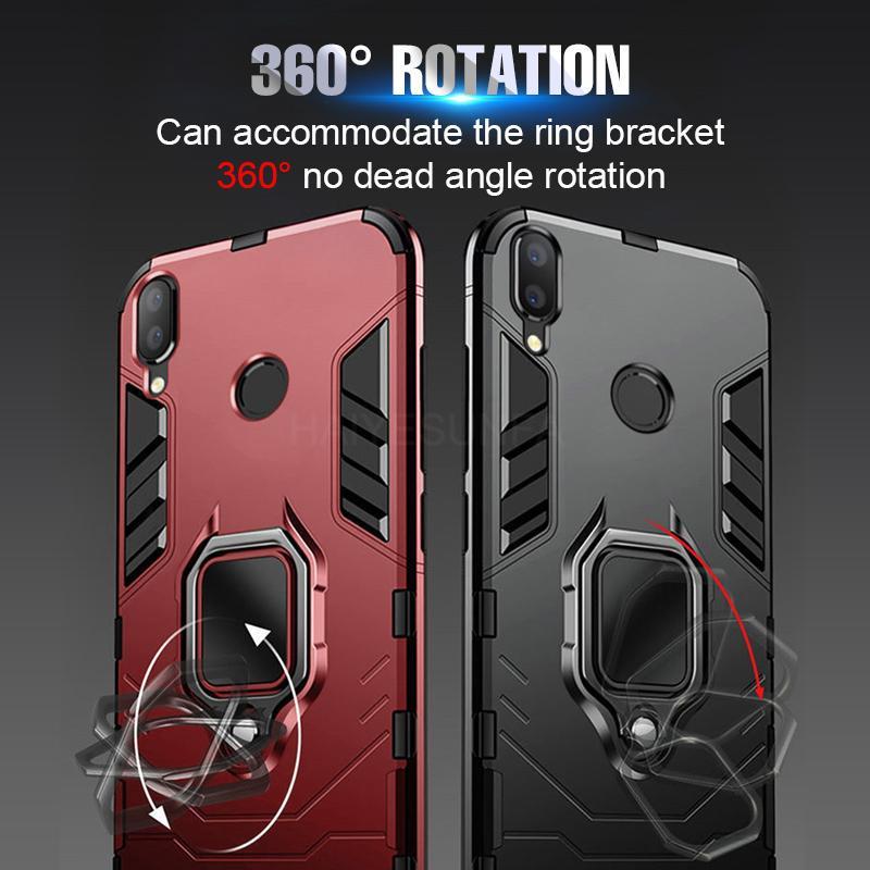Роскошный магнитный ударопрочный автомобиль Кольцо Дело на для Xiaomi Redmi Примечание 7 6 Pro 5 4X Дело для Redmi фото