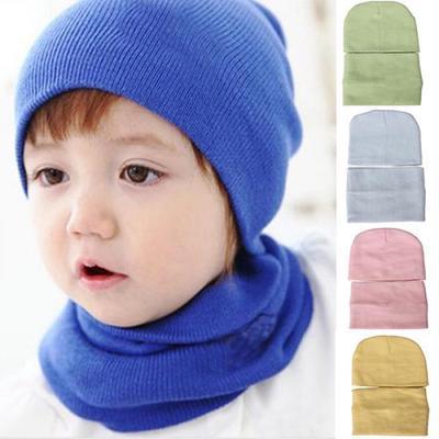 Los niños de niños chico chica pañuelo bufandas invierno cálido chal +  sombrero hecho punto d43c8d51407a