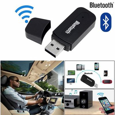 3.5mm Car Wireless USB Bluetooth Aux Audio Stereo Music Speaker Receiver Adapter Dongle+Mic