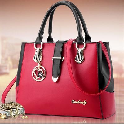 Womens Top Handle Satchel Handbag Colored Palm Trees Ladies PU Leather Shoulder Bag Crossbody Bag