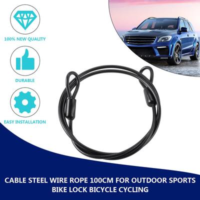 Cable Steel Wire Rope 2 metre Outdoor Bike Lock Bicycle Cycling security motar