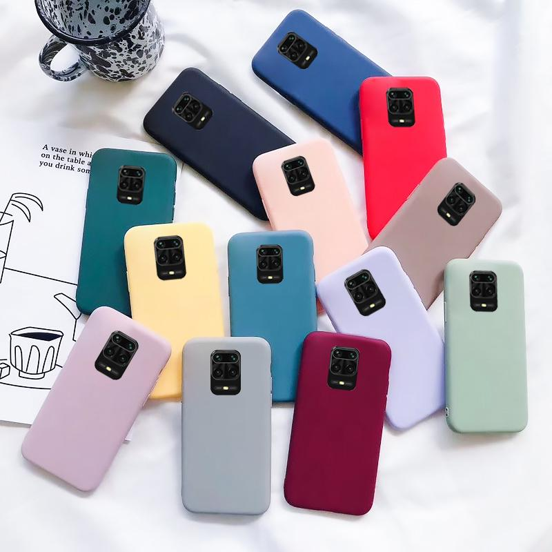 Твердый цвет Силиконовой Мягкий Чехол для Xiaomi Mi Примечание 10 Mi 10 Redmi Примечание 9 8 Pro Примечание 8T K30 Дело фото