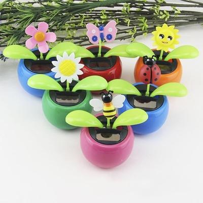 c179e7957214a3 Solar Power Flip Flap Flower For Car Decoration Swing Dancing Flower Toy  Gift