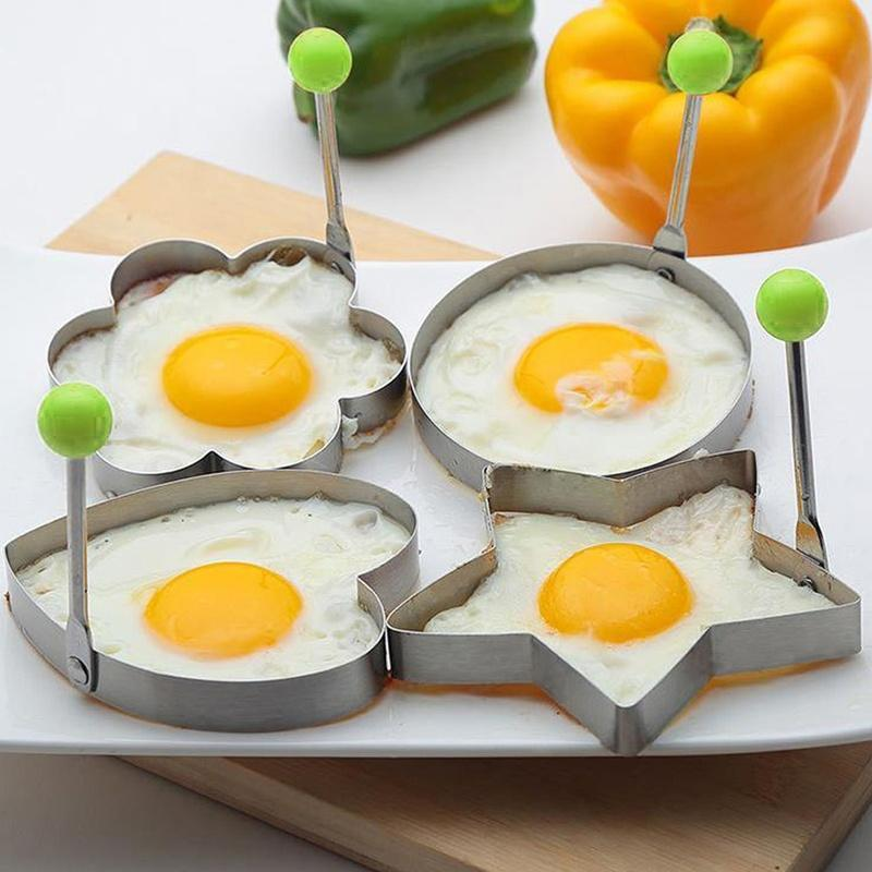 Non Stick Fried Egg Shaper Stainless Steel Pancake Ring Mold Cooking Tool Mould