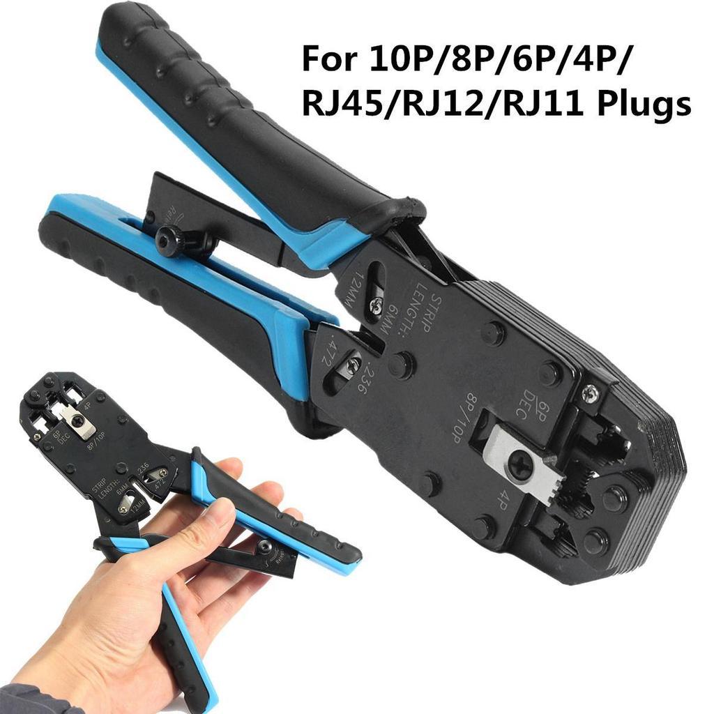 10P/8P/6P/4P RJ11/RJ12/RJ45 Network LAN Cable Pliers Crimper Modular ...