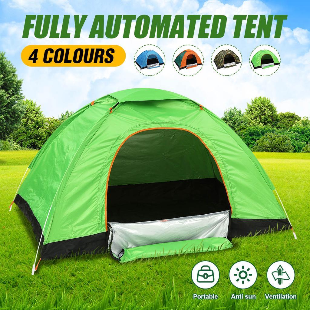 1 door 3 windows portable automatic speed open tent thickened rainproof