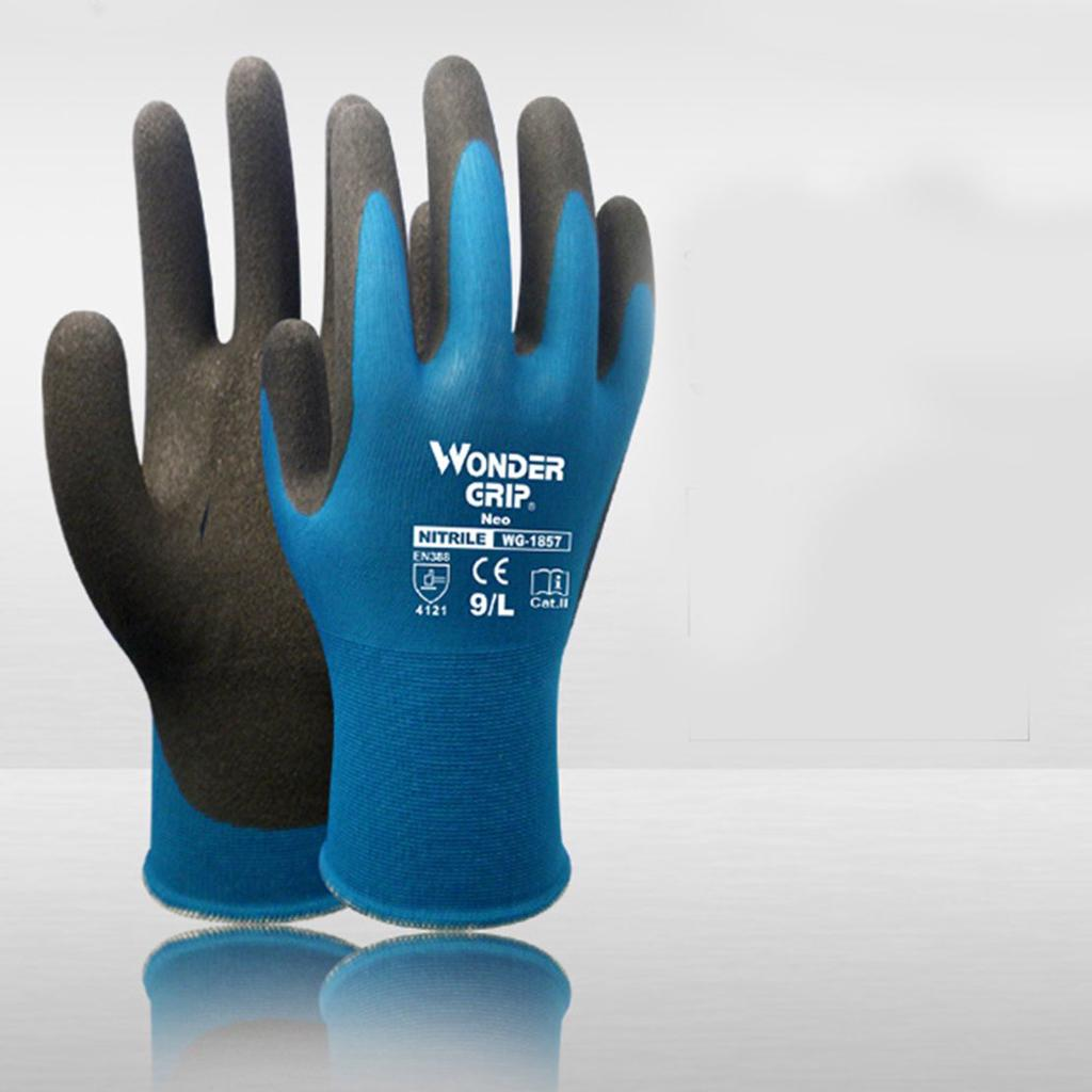 5 Pairs Of Wonder Grip WG-1857 Neo Nitrile Palm Coated Safety Gloves Size 11//XXL
