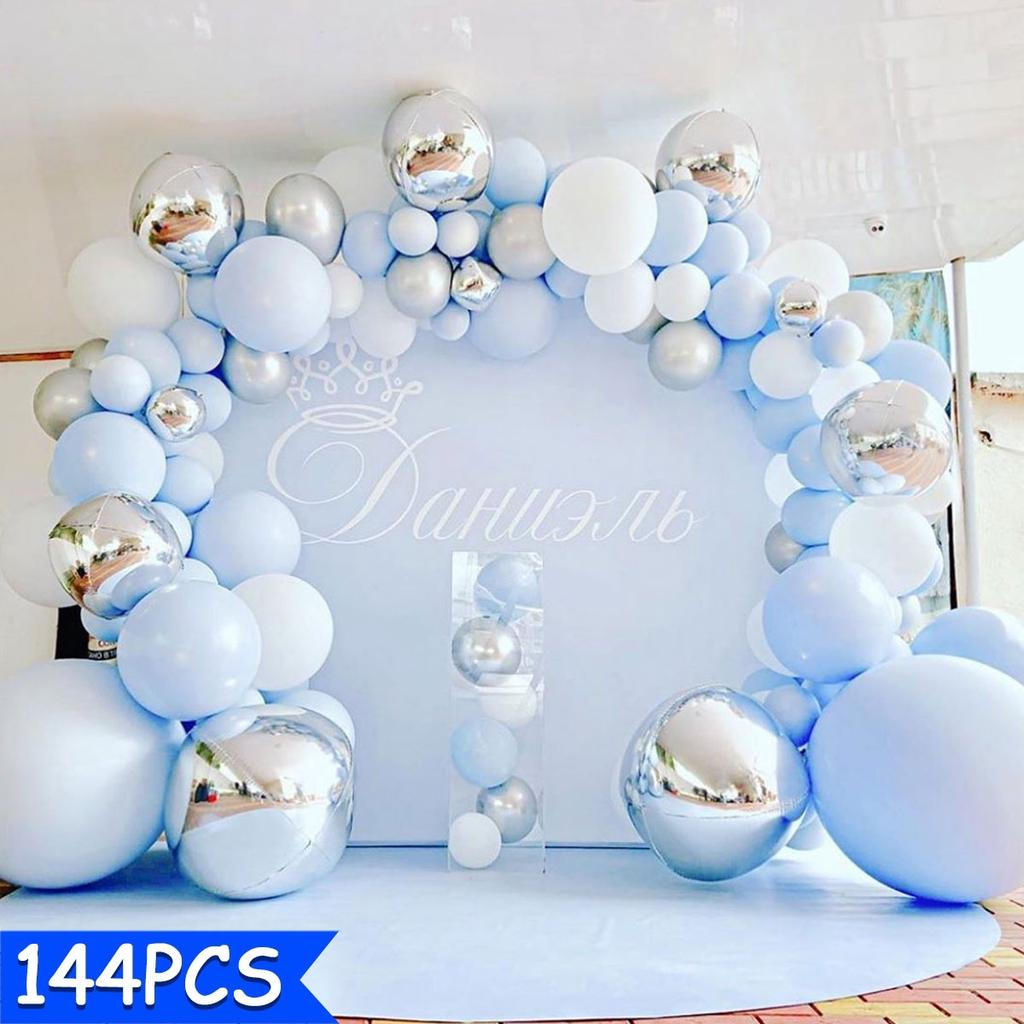 Balloons+Balloon Arch Kit Set Chrome Macaron Baloons Baby Shower Garland Party