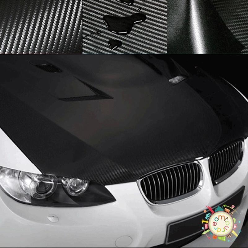 "20/"" x 50/"" 3D Carbon Fiber Vinyl Wrap Roll Film Sheet Auto Car Sticker Decal New"