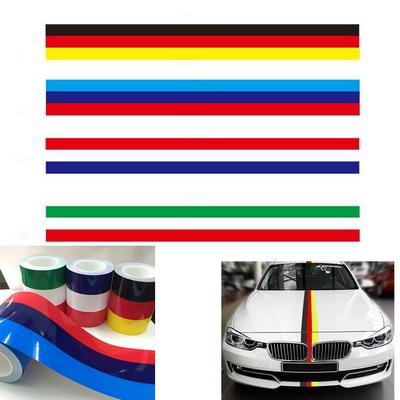4 x sticker car decal motorcycle flag france stripe racing badge laptop tuning