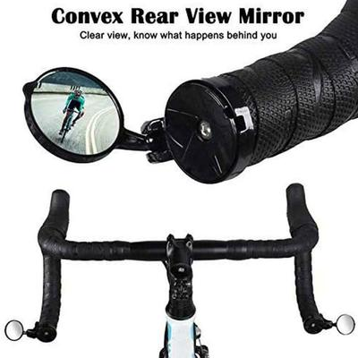 GMWD Bike Mirrors 360 Degree Rotate Adjustable Handlebar Mounte Plastic Convex Mirror for Mountain Road Bike Electric Bicycle Moped,Cycling Bicycle Cycling Rear View Mirrors