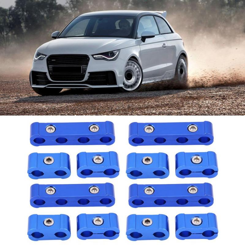12Pcs Braided Engine Spark Plug Wire Hose Separator Clamp Fitting Kit for 8mm 9mm 10mm Suuonee Hose Separator