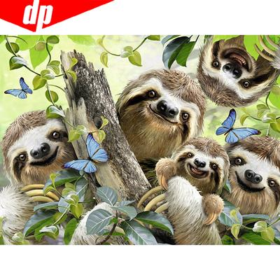5D Full Drill Diamond-Painting Embroidery Sloths Branches Stitch Kits Hobby