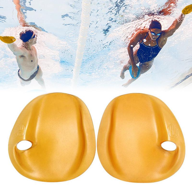 L 1 Pair Swimming Hand Paddles Strapless Train Fins for Beginners Children Adults