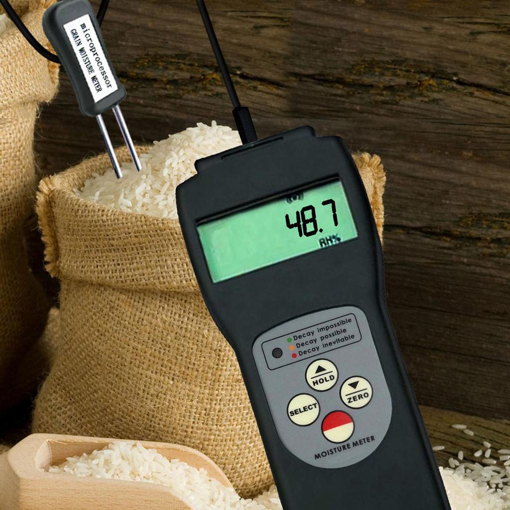 Grain Seed Moisture Meter Grain moisture content tester thermometer 2in1 36 Kind
