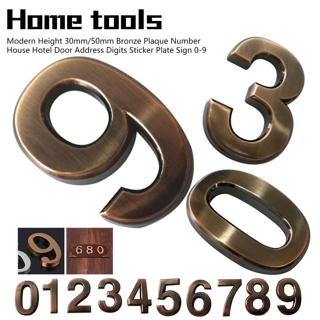 Iron Cafe Roblox Application Answers Height 30mm 50mm Bronze Plaque Number House Hotel Door Address