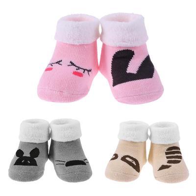 Baby Toddlers Warm Socks Cartoon Hosiery Breathable Non-skid Floor Socks 1Pair