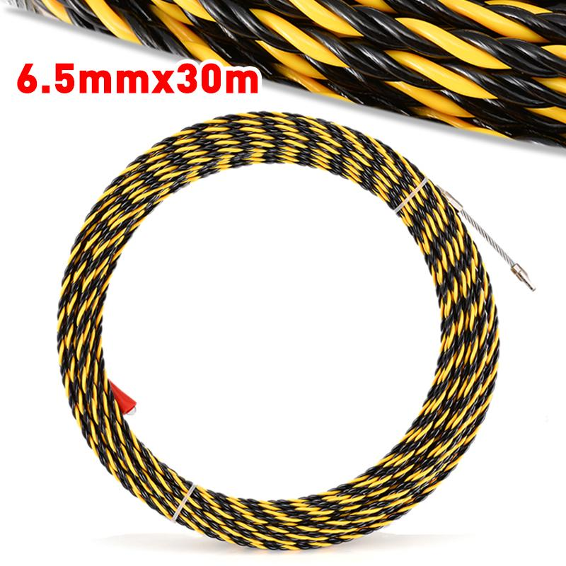 6.5mm x 10m Cable Push Puller Conduit Snake Cable Rodder Fish Tape Wire Guide