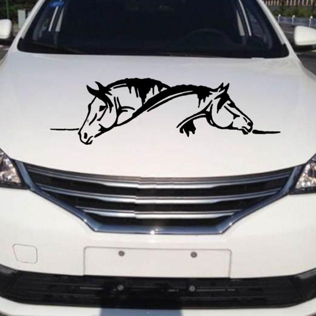 2 pcs Auto Car Stickers Windshield Hood//Trunk Animals Decals Horse Car Stickers