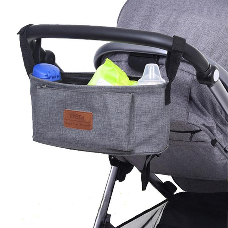 e1d712800 Outdoor Black Baby Stroller Cup Bag Organizer Baby Carriage Pram ...