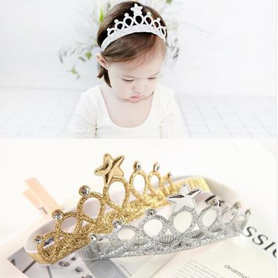 Baby Hair Accessories Princess Tiaras Crowns Headband Elastic Birthday New