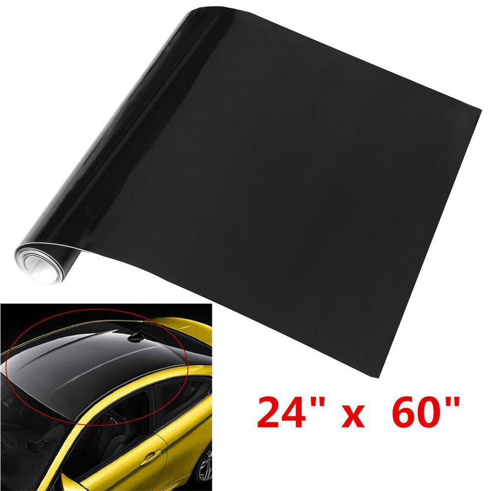 "CF Useful Car Metallic Brushed ALUMINUM Vinyl Wrap Sticker Black 12/"" x 60/"""
