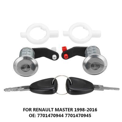 Juego de cilindro de cerradura de puerta izquierda derecha con 2 llaves 7701470944 apto para Renault Master 1998-2016