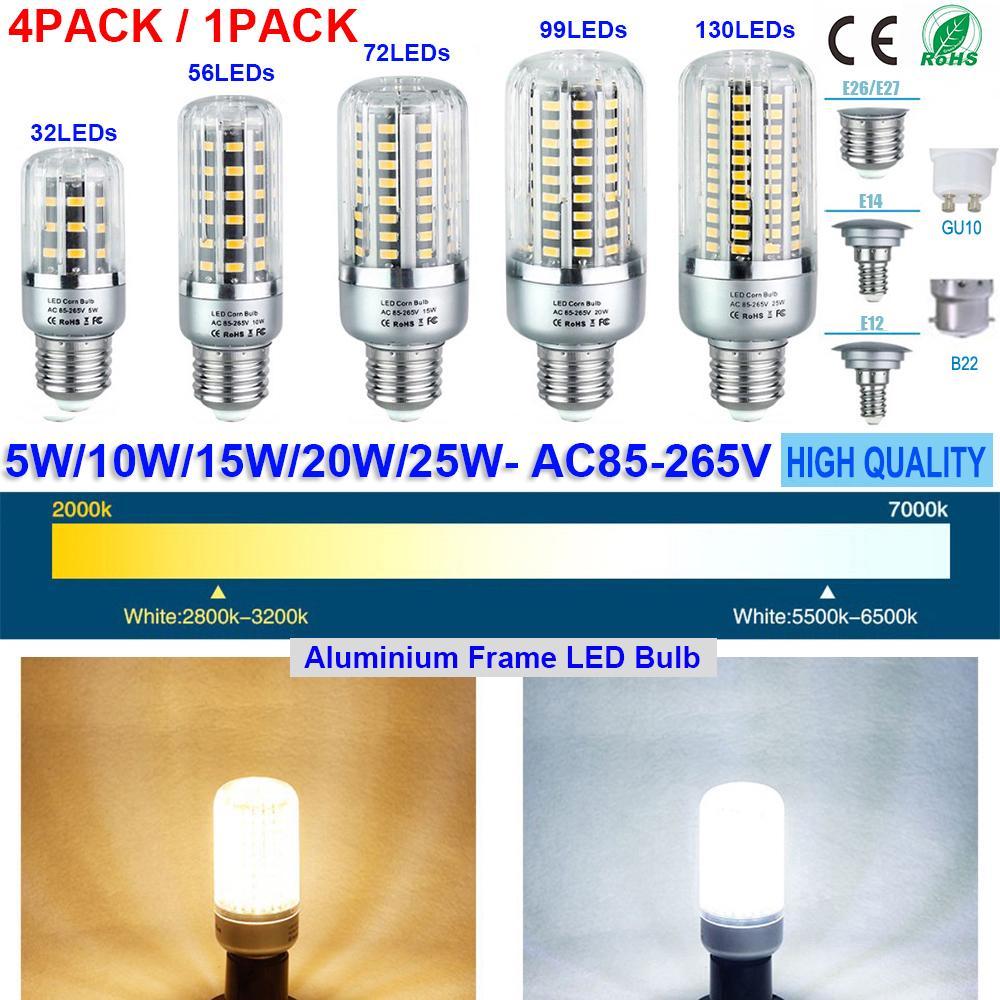 E14 E27 B15 B22 3W LED Candle Bulb Cool//Warm White Lamp Globe SpotLight 200-240V