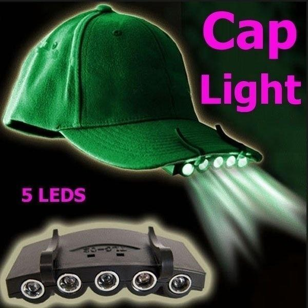 Hat LED Light Outdoor Fishing Cap Clip Baseball Rechargeable Head Lamp Camping