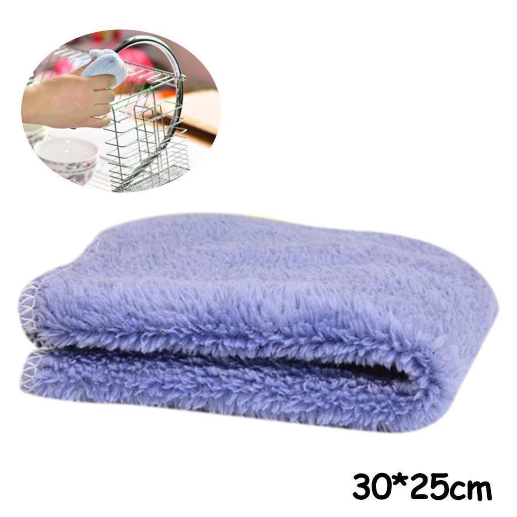 25cm*25cm (Beige) Da.Wa Torchons de Cuisine Torchon Microfibre Voiture Sechage Torchons de Cuisine Chiffon Table de Cuisine