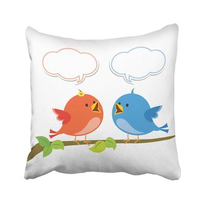 Blue Abstract Valentine Couple Of Owls In Love Pink Advertisement Animal Baby Bird Birth Pillowcase Cover 18x18inch 45x45cm Buy At A Low Prices On Joom E Commerce Platform