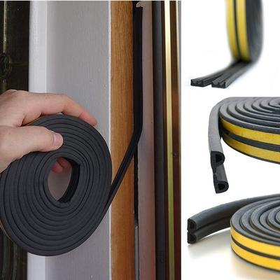 Insulation Draught Excluder Tape Draft Weather Foam Seal Strip Door Window e@7