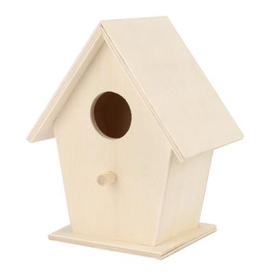 Wooden Bird House Birdhouse Hanging Nest Nesting Box Home Garden Decoration