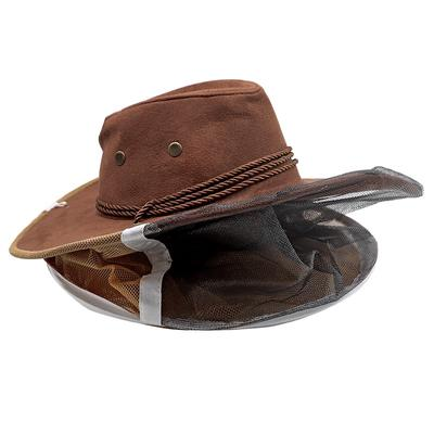 Beekeeping Cowboy Hat Mosquito Bee Insect Net Veils Hat Cap Face Head Protector#