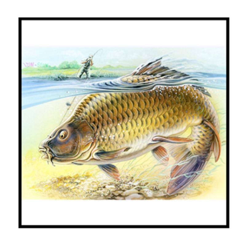 Diamond Painting Big Fish 5D DIY Full Drill Embroidery Kits Cross Stitch Decors