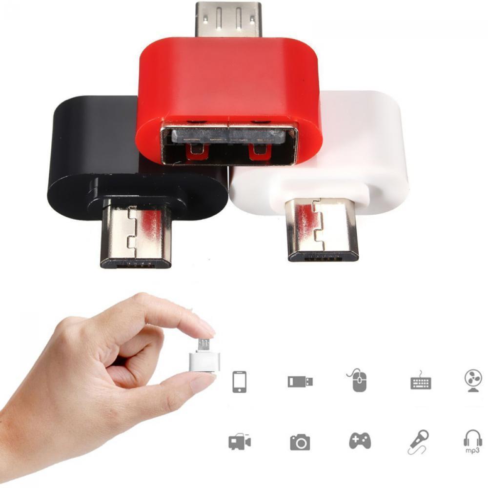 适用V8安卓手机otg转接头 micro转USB2.0 迷你OTG多功能转换头