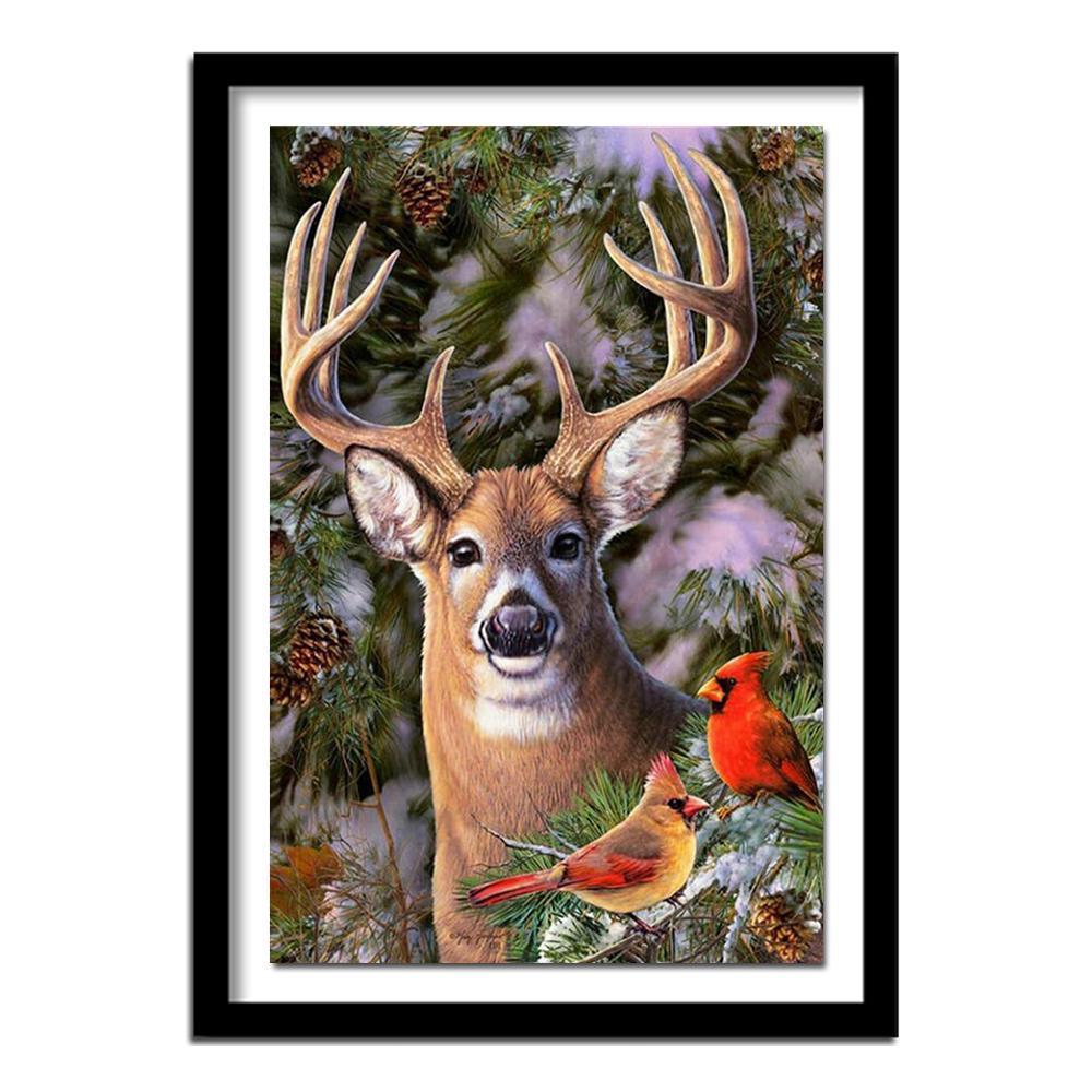 DIY Full Drill 5D Diamond Mosaic Painting Cartoon Deer Craft Cross-Stitch Kit