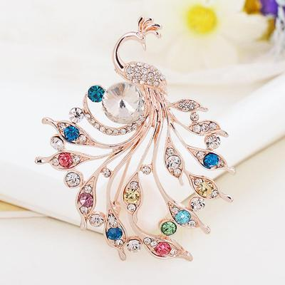Creative Brooch Pin Brooch Fashion European vintage brooch Bright pearl feather brooch personality lady Scarf Buckle 2 piece set Badge Pin Lapel Pin