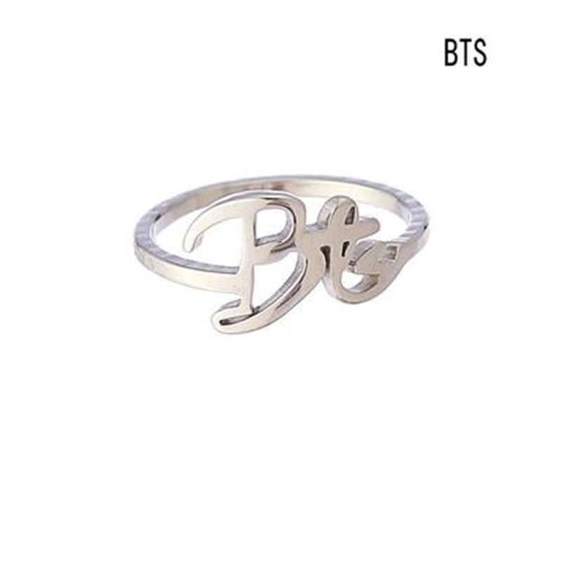 Kpop BTS BangTan Boys Unisexe Bracelet Cuff Bangle Acier Titane Bijoux Fantaisie