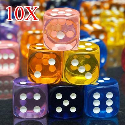 DIE 1 PURPLE TRANSLUCENT WITH WHITE SPOTS 19MM DICE MAGIC TRICKS GAMES NOVELTY