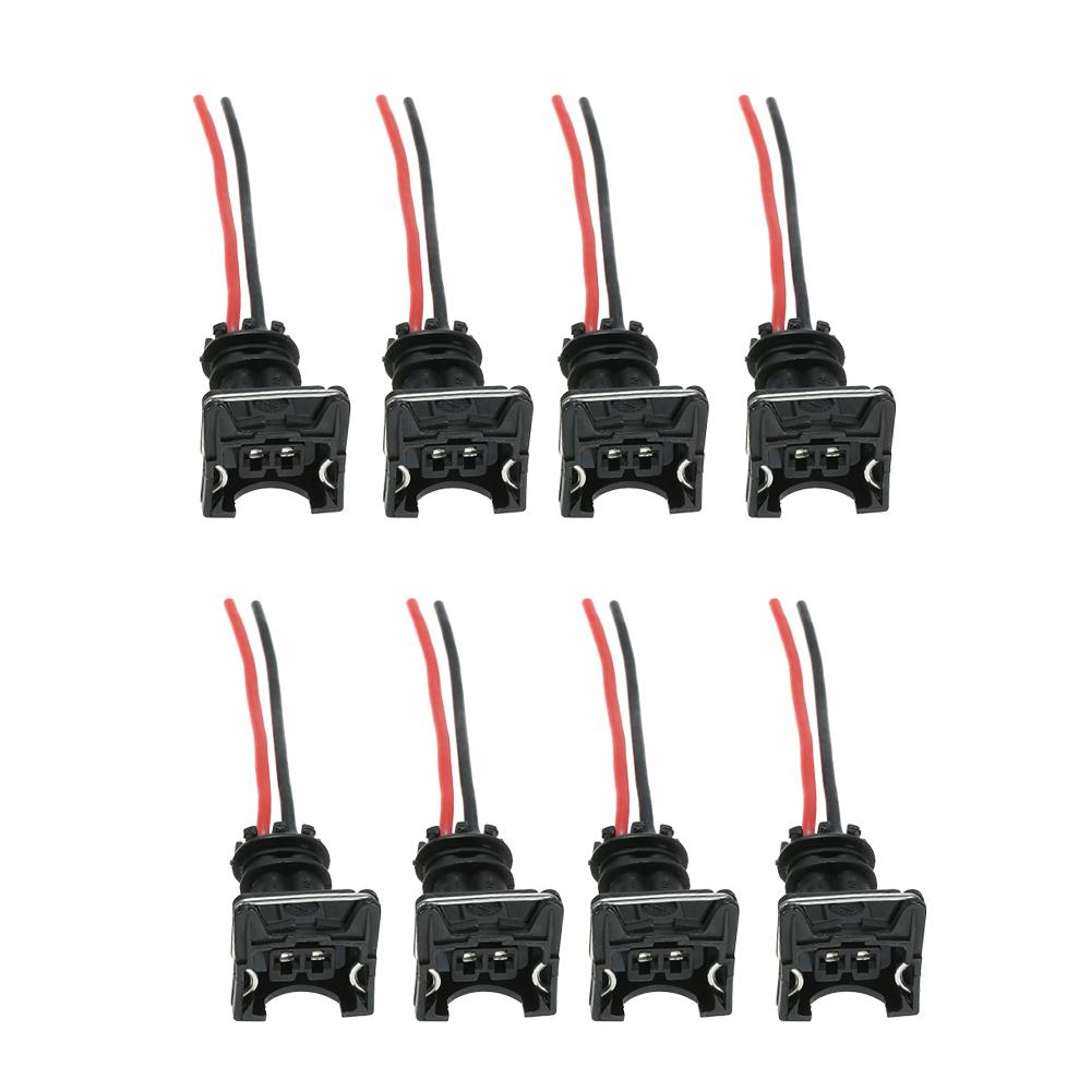 8 Pcs Fuel Injector Connector Wiring Plugs For Any Rc Bosch Ev1 Obd1 An Outlet Pigtail 2 Of