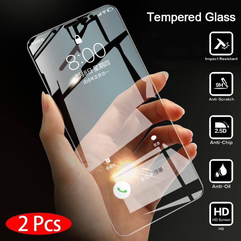 2PCS Закаленный стеклянный экран протектор для Huawei P Smart Honor 10 Lite Huawei Честь 8A 8C Честь 20 Mate30 Экран Обложка фильма фото