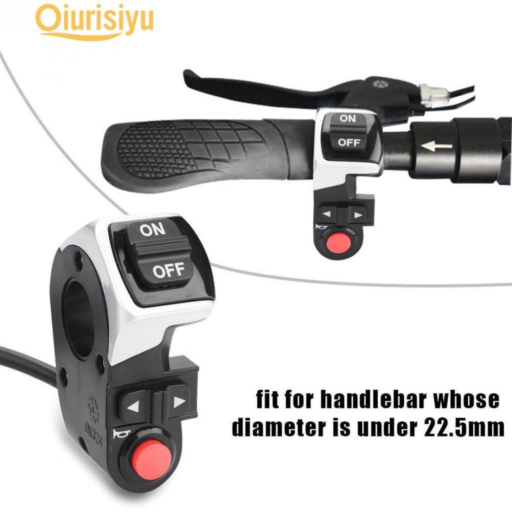 """Details about  /3in1 Schalter Turn Licht Hupe Blinker 7//8/"""" Handlebar Switch Für E-Bike Scooter"""