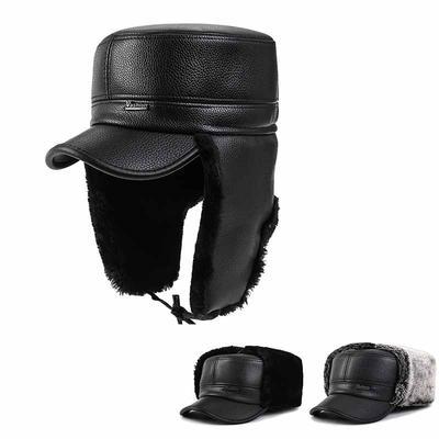 Fashion Men Baseball Cap Old Men/'s Warm Earflaps Peaked Cap Lei Feng Hat Winter