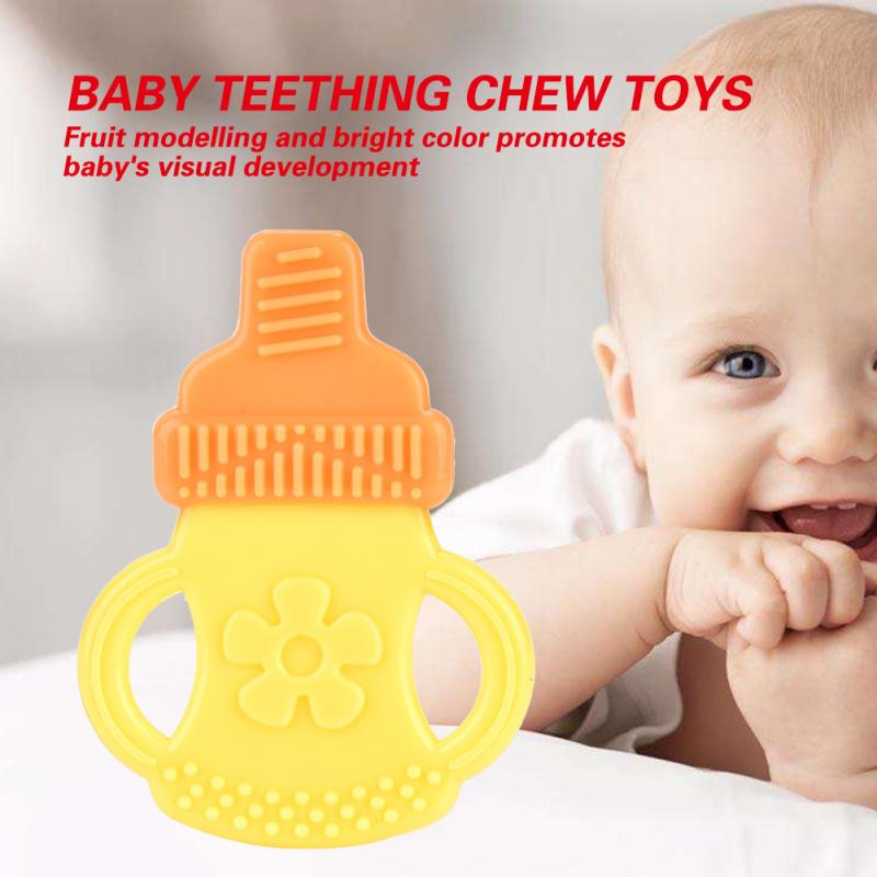 Soft Silicone Baby Teether Fruit Modelling Infant Interesting Teething Chewing