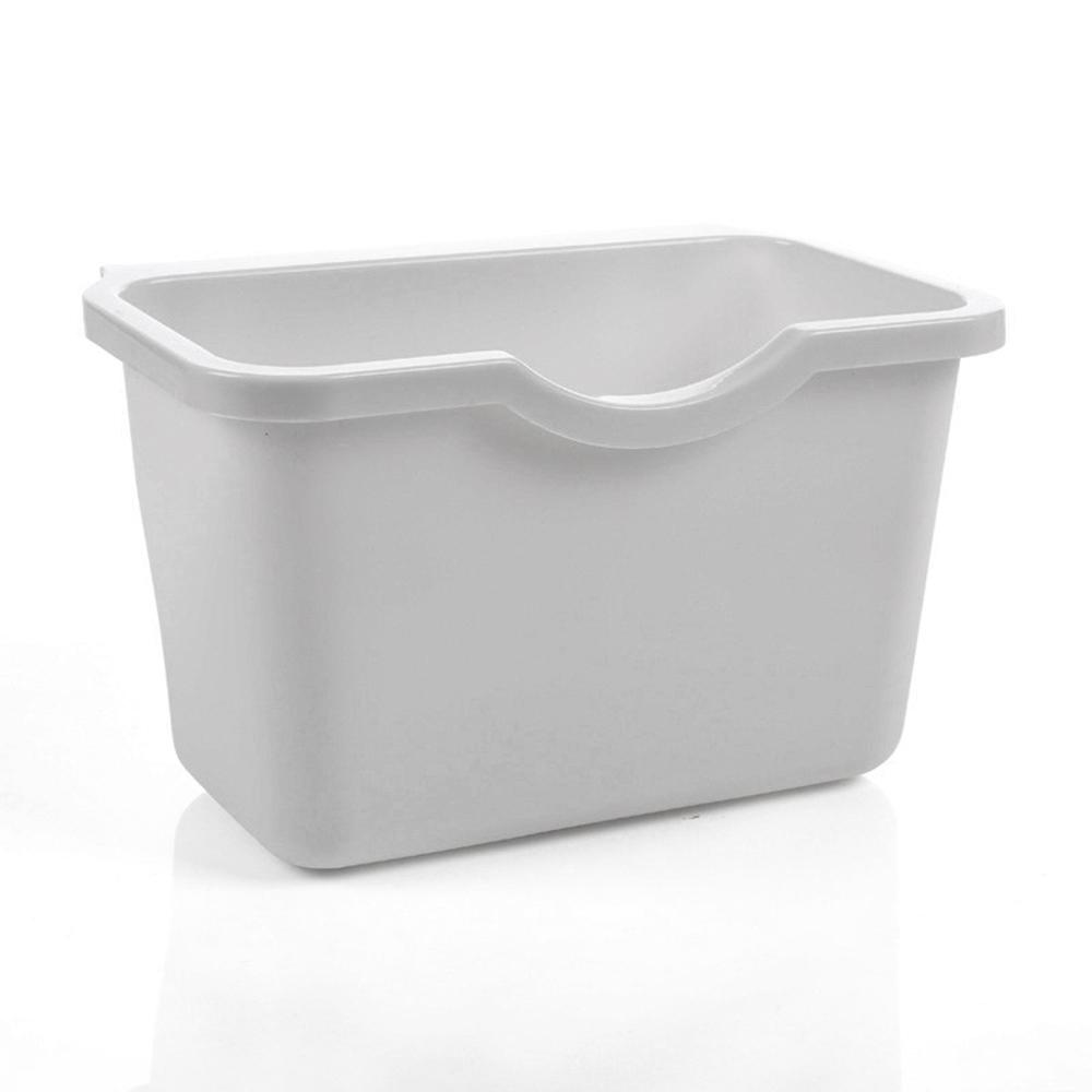 KITCHEN CABINET DOOR PLASTIC BASKET HANGING TRASH CAN WASTE BIN GARBAGE BOX HOT