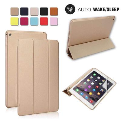 b43345f331 9.7 Inch Stylish Simple Smart Stand Magnetic Back Case Cover with Kickstand  for Apple iPad