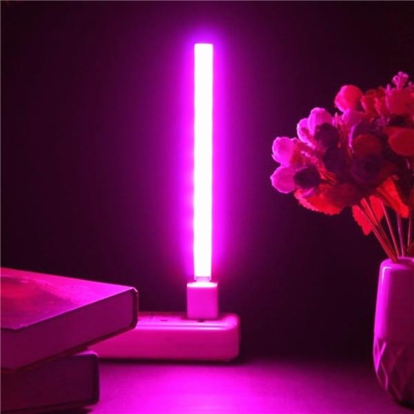 USB завод ВОДИТЬ роста лампа полного спектра огни серебристые тела гидропоники системы парниковых зеленый план фото