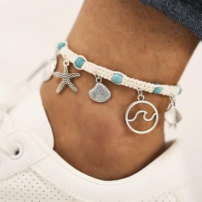 Olbye Turquoise Anklet Gold Infinity Anklet Bracelet Boho Foot Chain Summer Jewelry for Women and Teen Girls