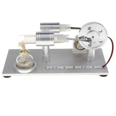 5bfe135cf92 Modelo de educação Stirling motor combustão externa com luzes LED colorido